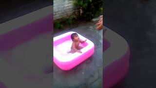 Cute Baby Girl Bathing And Fight With Dadi