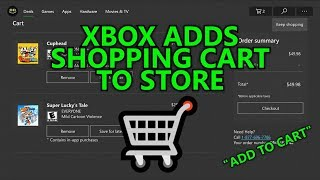 Xbox Adds Shopping Cart to Store - Wishlist (Save for Later) & Add to Cart Feature - Xbox Insider