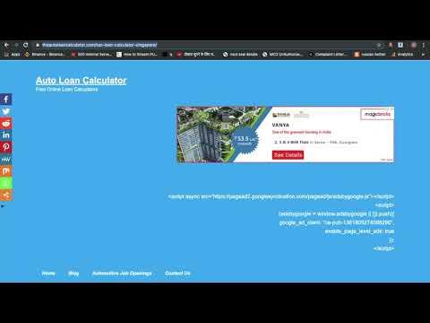 Car / Auto Loan Calculator Singapore