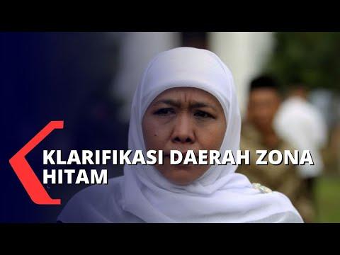 Klarifikasi Khofifah Terkait Zona Hitam di Jawa Timur