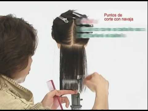 Corte De Pelo Con Navaja Feather 03 Puntos De Corte Fejic España Castellano Youtube