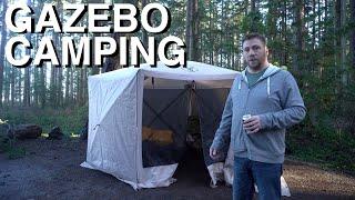 Camping In Pop-Up Gazebo