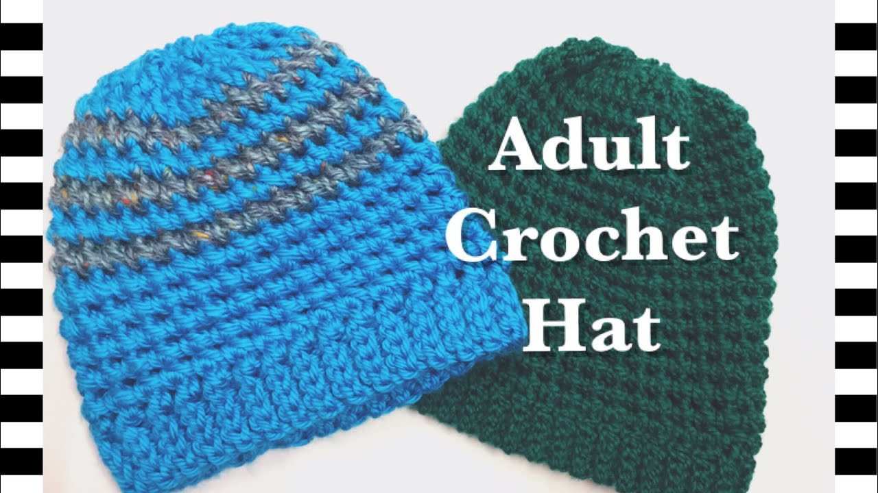 Fast And Easy Adult Crochet Hat With Petit Pois Stitch For Men Or