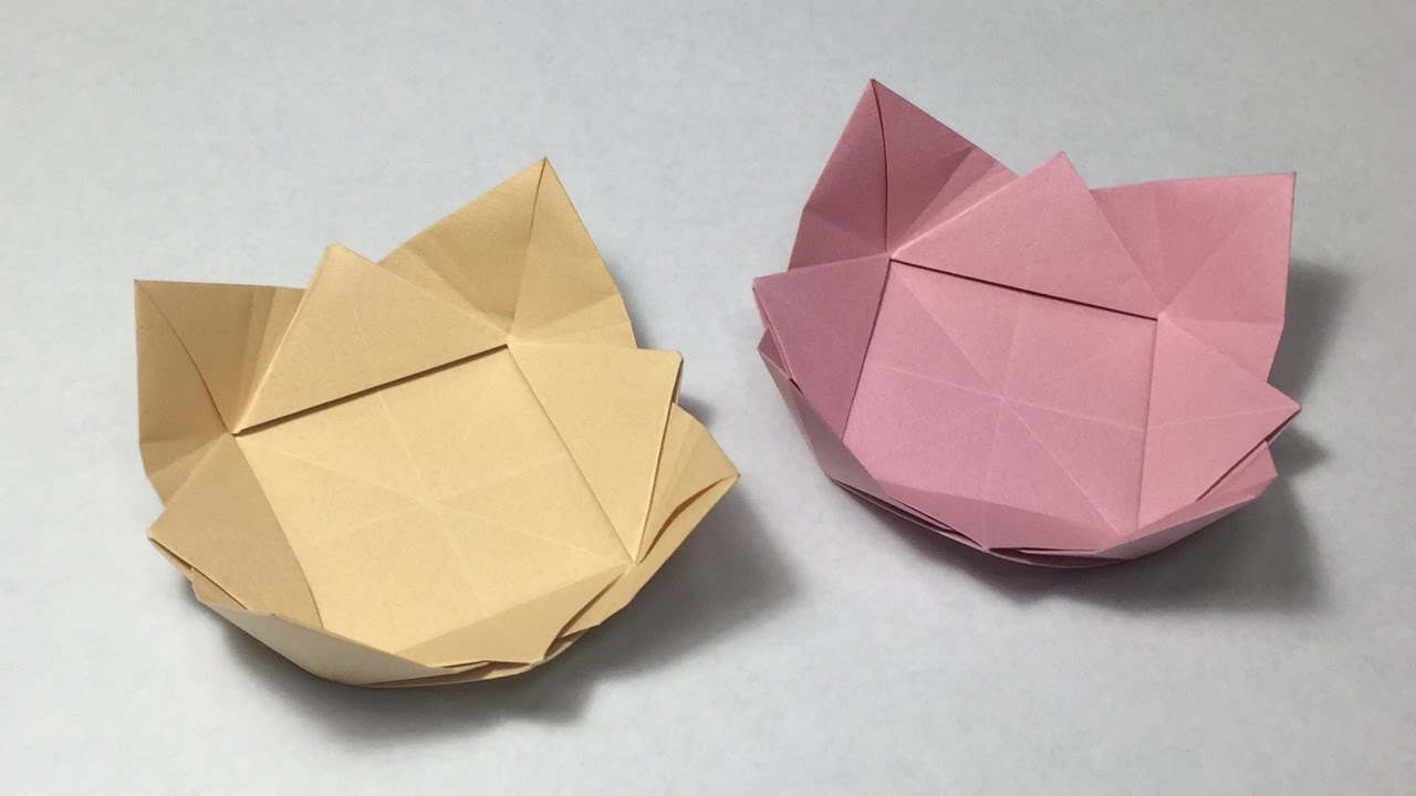 How to make a paper bowl origami dish youtube how to make a paper bowl origami dish jeuxipadfo Images
