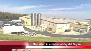 Man killed at Crystal Geyser bottled water plant in Benton, TN