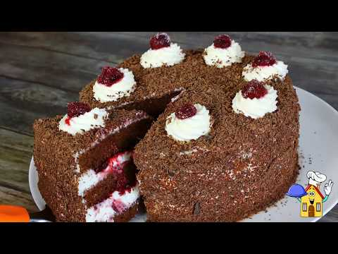 Шоколадный Торт Черный лес🍰Торт Шварцвальд