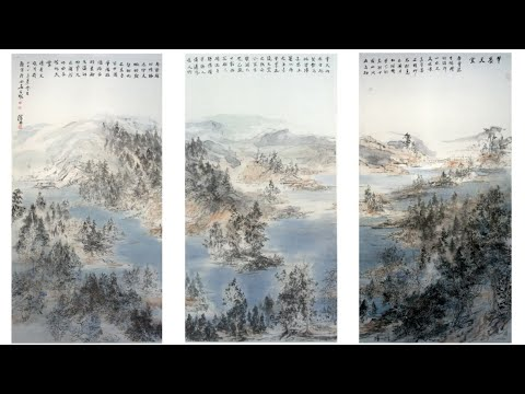 These may look like traditional Chinese landscape paintings…