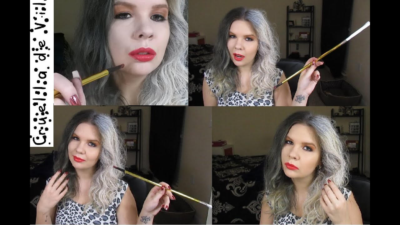 Cruella de vil 101 dalmatians makeup hair youtube solutioingenieria Image collections