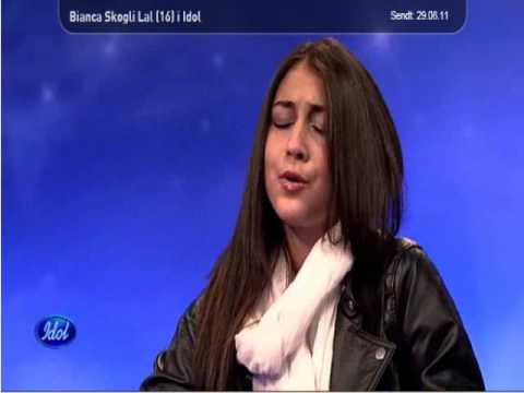Bianca Skoglie Lal (16) audition Norwegian norway Idol 2011.