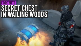 *NEW* SECRET RARE CHEST SPOT IN WAILING WOODS! (EASY CHALLENGE COMPLETE) - Fortnite: Battle Royale