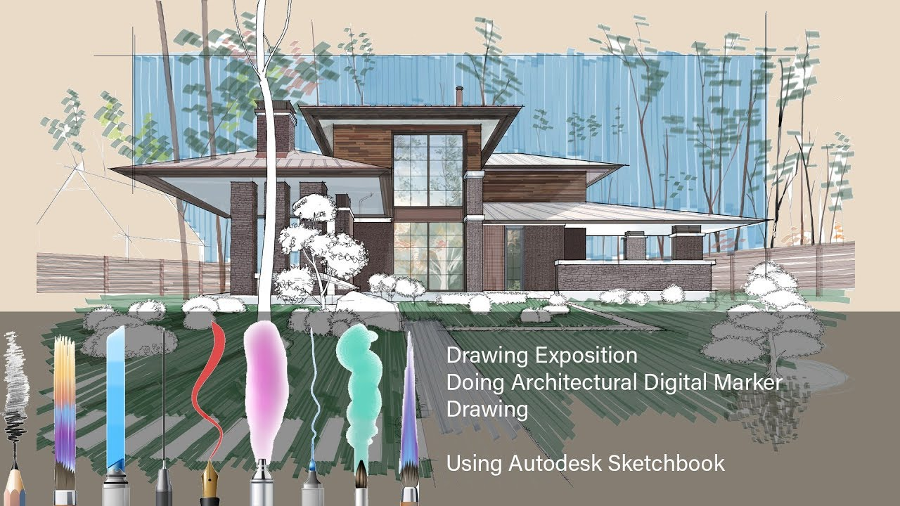 How To Do Architectural Digital Marker Drawing Using