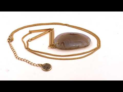 Kinsley Armelle Agate Collection - Ashen Necklace thumbnail