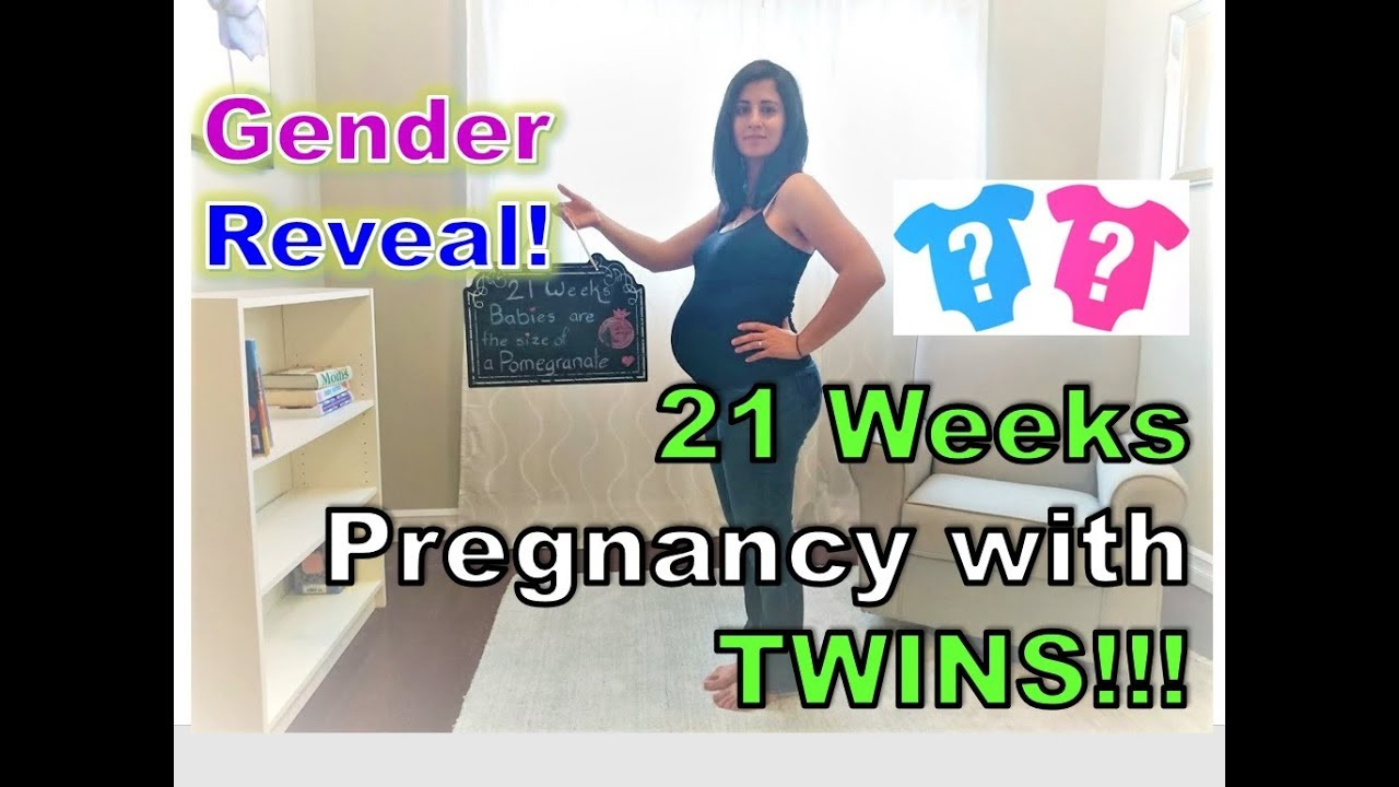 GENDER REVEAL AND PREGNANT WITH TWINS AT 21 WEEKS! - YouTube