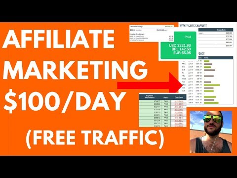 $100/Day Free Traffic Affiliate Marketing