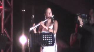 MARIA CONSUELO HERNANDEZ SOLO DE FLAUTA FESTIVAL AFROCARIBEÑO 2012 EN VERACRUZ