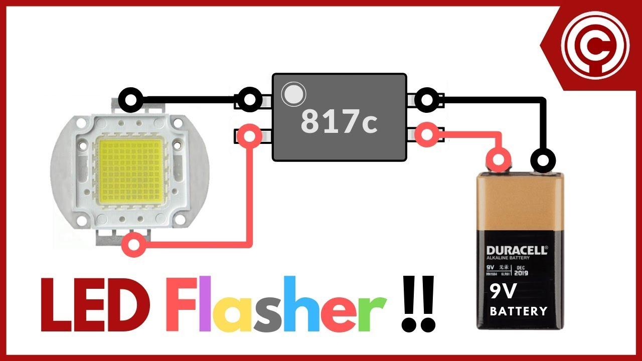 12v Led Flasher Circuit Youtube