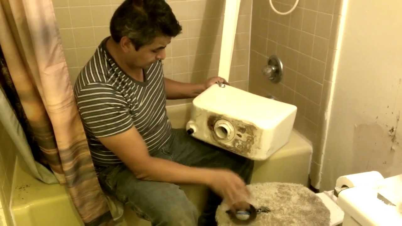 How To Fix An Old Toilet Tank Parts Replacement Youtube