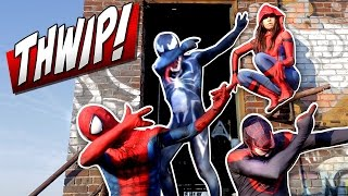SPIDER-MAN SPIDER-VERSE THWIP IN NEW YORK - Dab On Em Real Life Super Hero Comedy