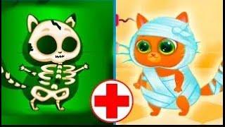 Мультфильм Котик Буббу -  игровой мультик для детей. Котик в больнице Bubbu My Virtual cat.