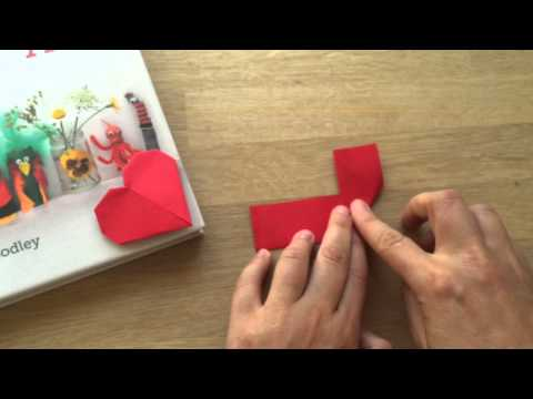 Easy Paper Heart Corner Bookmarks How To (Kirigami)