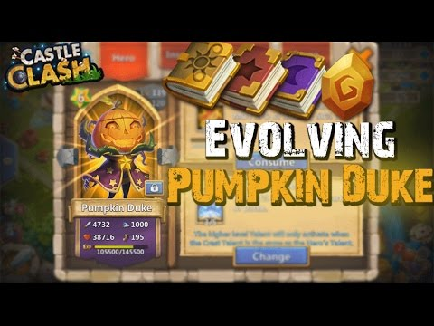 Castle Clash Evolving Pumpkin Duke!