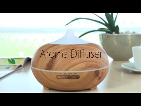Aroma ätherische Öl Diffuser Ultraschall Luftbefeuchter Raumbefeuchter 01