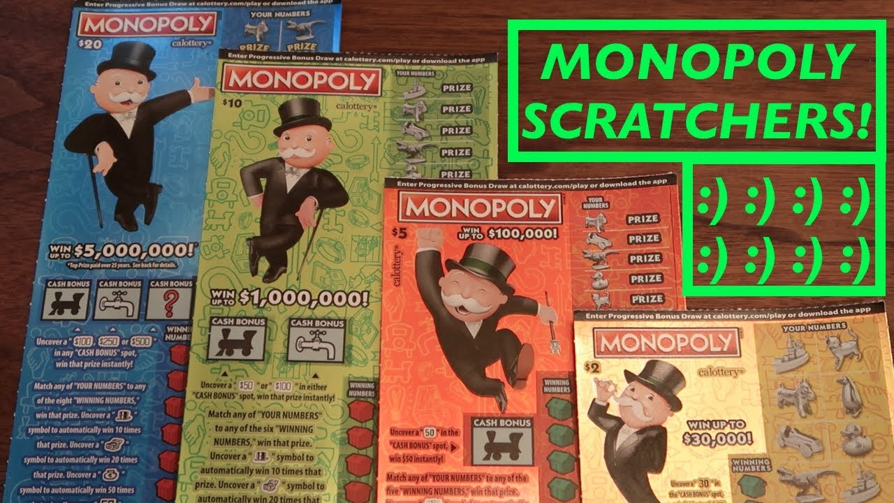 BOUGHT AND PLAYED ALL MONOPOLY 2019 CALIFORNIA LOTTERY SCRATCHERS!!!