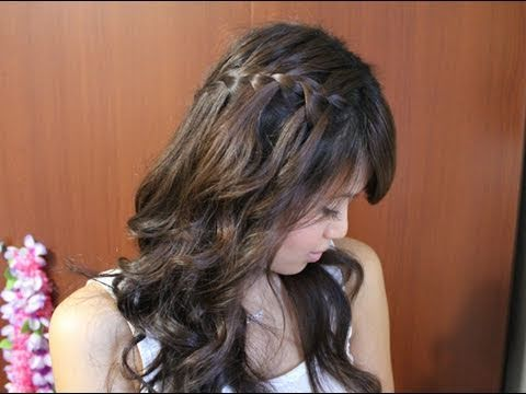 Waterfall Braid Hairstyle for Long and Short Hair Tutorial