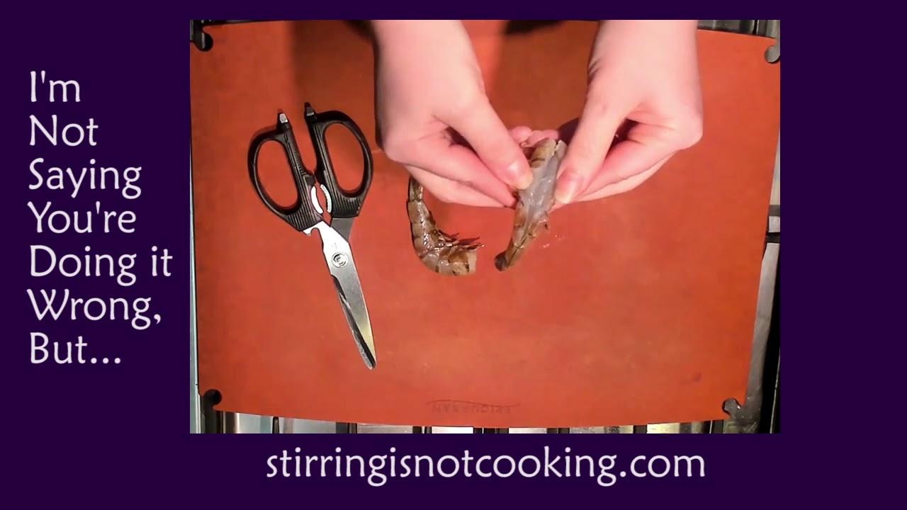 I'm Not Saying You're Doing it Wrong, But...: Deveining Shrimp