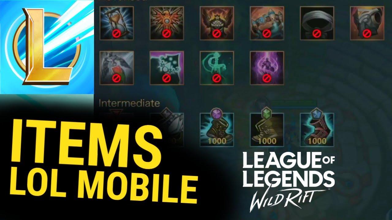Pembahasan Items Lol Mobile Referensi Versi Pc League Of Legends Wild Rift Youtube