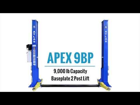 Atlas® APEX 9BP - ALI Certified, 2 Post Baseplate Lift