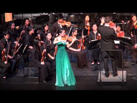 Helen Plays Barber's Violin Concerto with The Harker School Orchestra