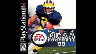 NCAA Football 99 Video Game Gameplay (Playstation)