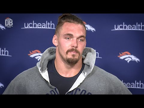 After practice: Derek Wolfe