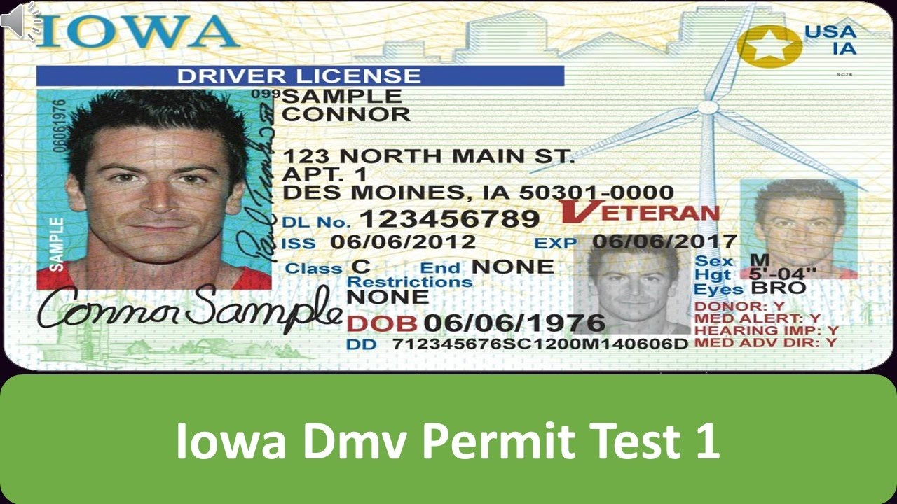 iowa drivers license test prep