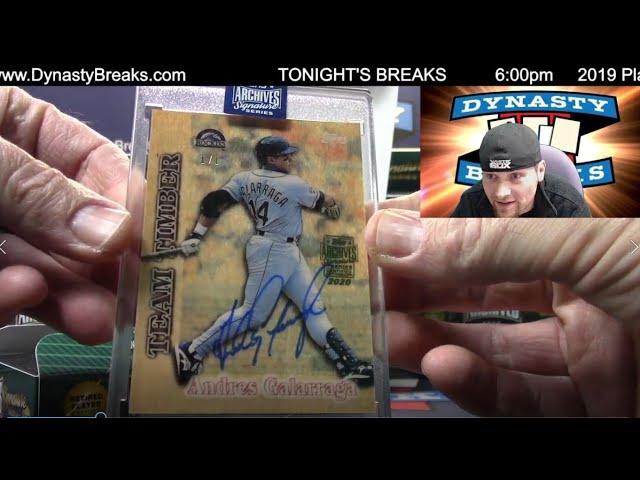 2020 Topps Archives Sig Series Retired Baseball Card 20 Box Case Break #2