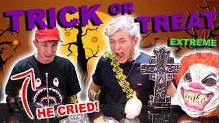 EXTREME TRICK OR TREAT!! VS MY BROTHER JED!