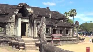 Вход в Ангкор Ват - привет Кушелеву - видео с камеры Глобальная Волна -
