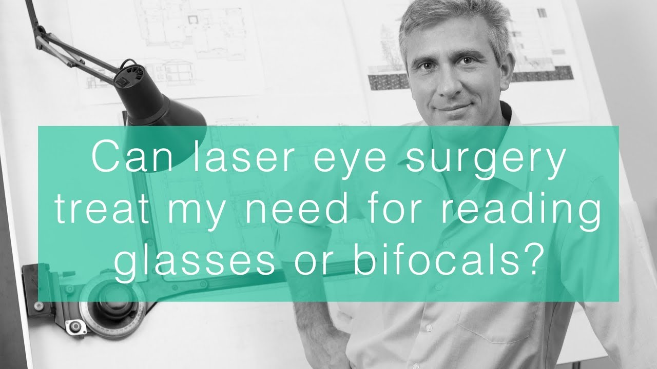 Can laser eye surgery treat my need for reading glasses or bifocals? image