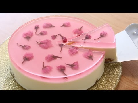 Sakura(Cherry Blossoms) Nobake Cheesecake