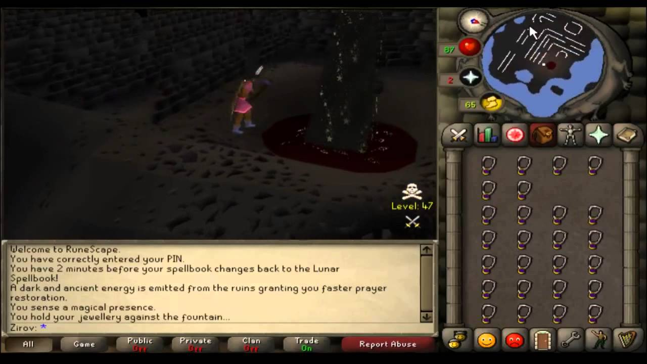 Recharging amulet of glory osrs quest