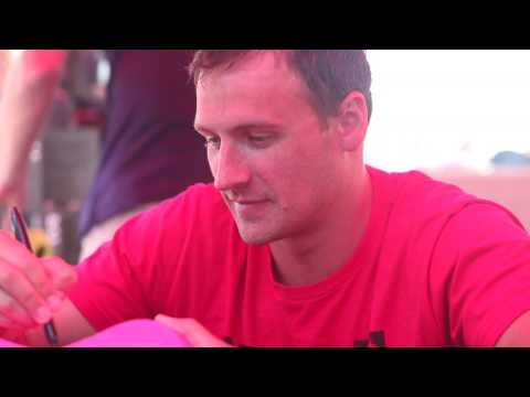 Olympic medalist Ryan Lochte joins competition at Riverside Aquatics Complex