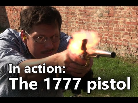 The French 1777 flintlock pistol in action