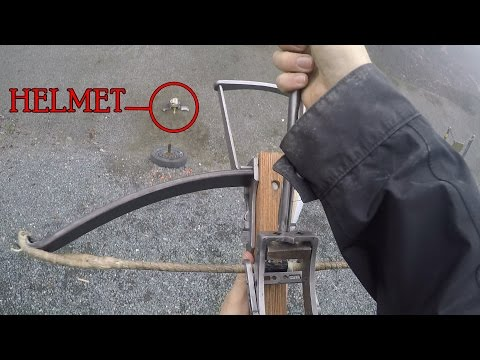 Can a 350lb Medieval Crossbow Penetrate Steel Helmets? (16 / 14ga)