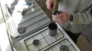 Как расплавить алюминий на газовой плите