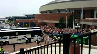 Real Madrid entering the Michigan Stadium