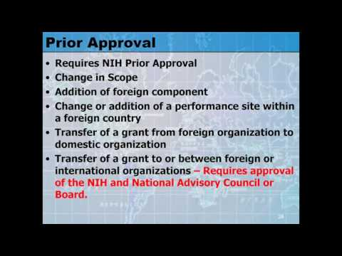 Prior Approval Requirements with Foreign Grantees and Foreign Components