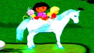 Dora Exploradora | Dora Saves The Crystal Kingdom | Butterfly Cave Story | Happy Kids Games and Tv