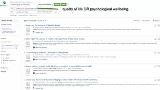 Finding gerontology articles using ageline