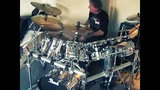 UFO - Rock Bottom - drums cover by Kris Kaczor..wmv